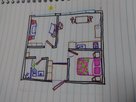 Amazing drawing of the apartment.